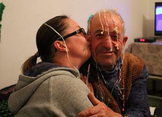 Usmivka gets a birthday kiss