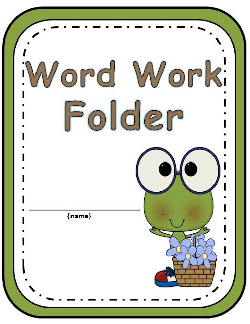 Your students will love getting organized with this adorable Frog Word Work Folder.