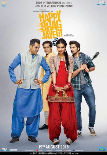 Happy Bhaag Jayegi 2016 Hindi 400MB 480p HD Free Download Worldfree4u