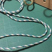 ひも撚り器を使って作った4色ロープ