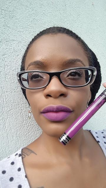 Kat Von D Everlasting Liquid Lipstick 'L.U.V' swatch www.modenmakeup.com