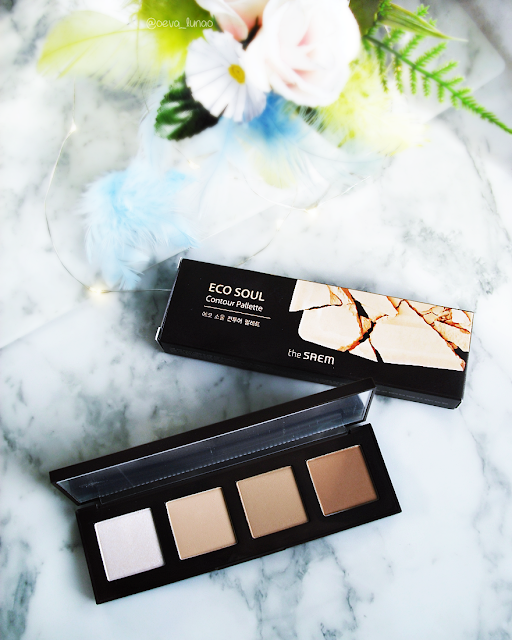 the SAEM Eco Soul Contour Palette - korean products - review swatch