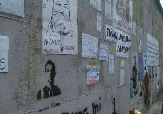 Colocaron de nuevo tributos a Neomar Lander en la avenida Libertador