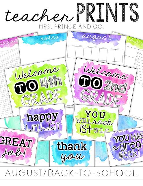 Mrs  Prince and Co : Teacher PRINTS---A New Look!