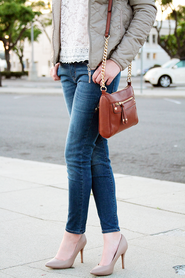 Casual Chic with Uniqlo Quilted Parka & Skinny Jeans