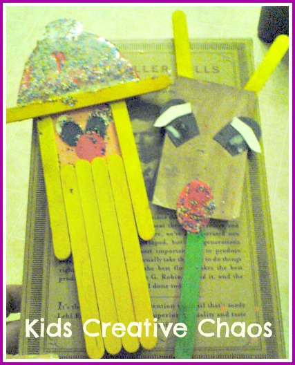 How to make popsicle stick ornament decorations for Christmas. Santa and Reindeer.