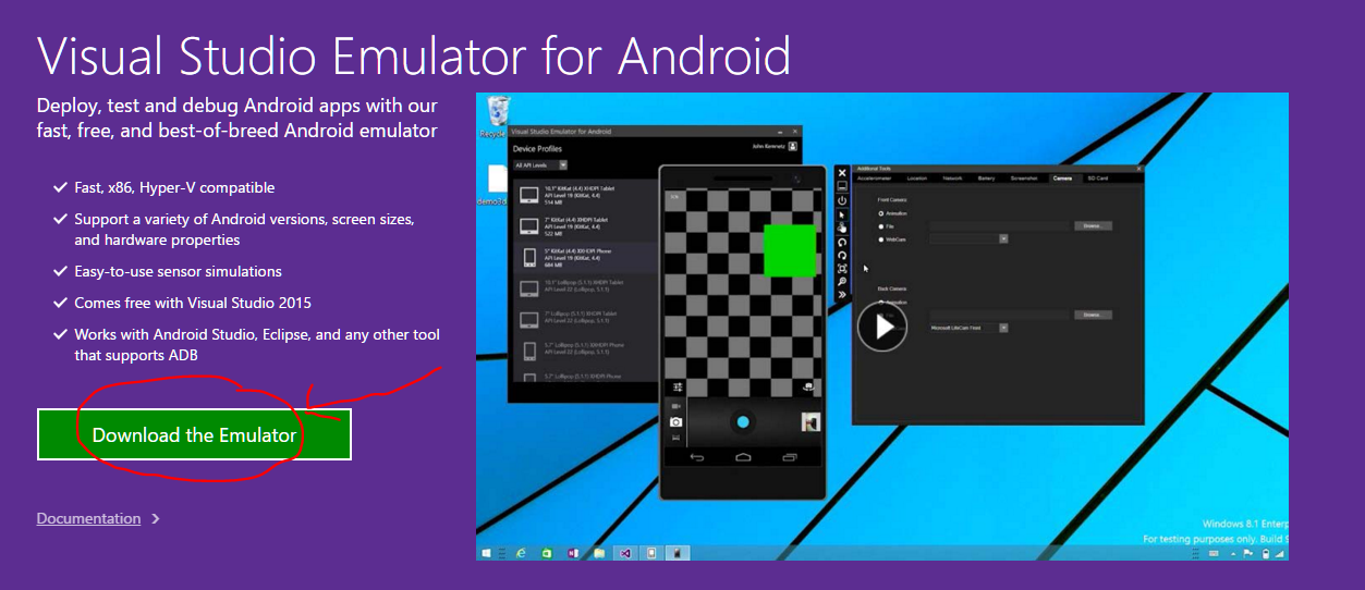 Install Android in Visual Studio