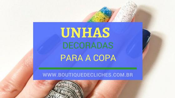 Unhas decoradas para a Copa Brasil