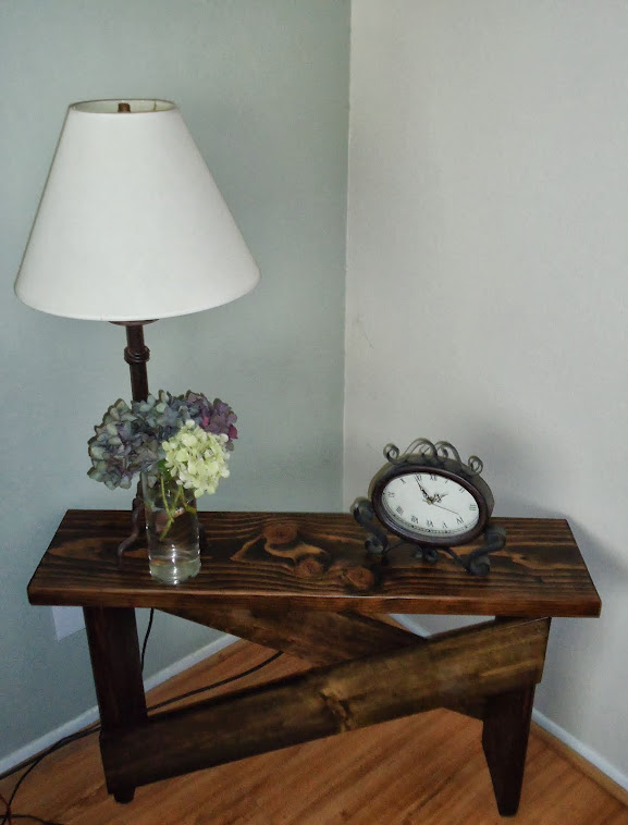 Custom Wood Console/Side Table - SOLD