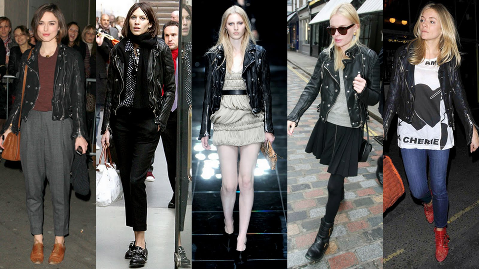Frills and Thrills: Celeb Style - The Burberry Biker Jacket