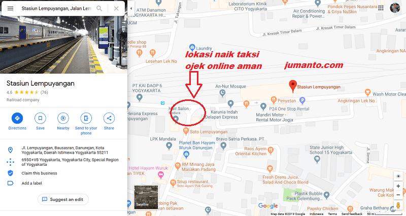 Alamat Stasiun Lempuyangan Jogja, Dekat Hotel Dan Tempat Wisata