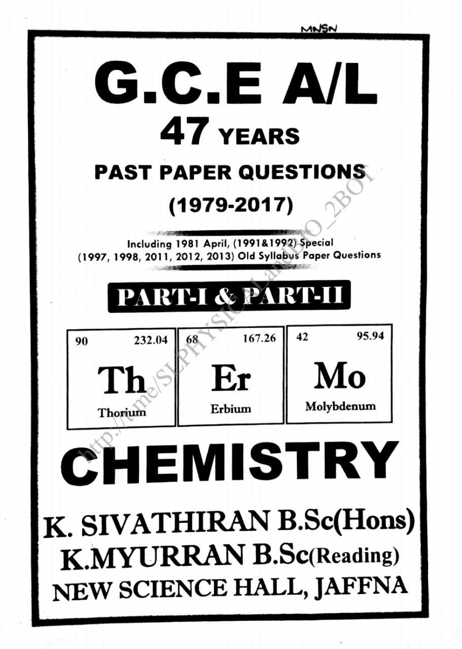 CHEMISTRY_Energetics_ Past Question Collection (1979
