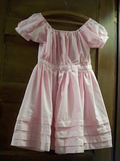 Adjustable full infant bodice dress with short puff sleeves, from SA/HMP-250