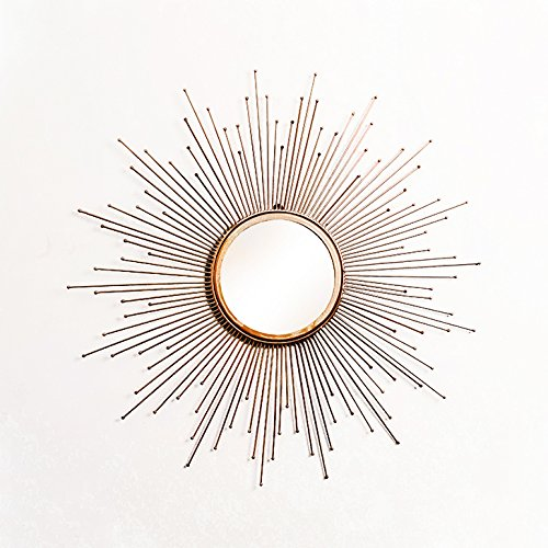 Furnish Craft Antique Sunburst Golden Wall Mirror for Living Room (31 x 31 Inch (Semi-Large))