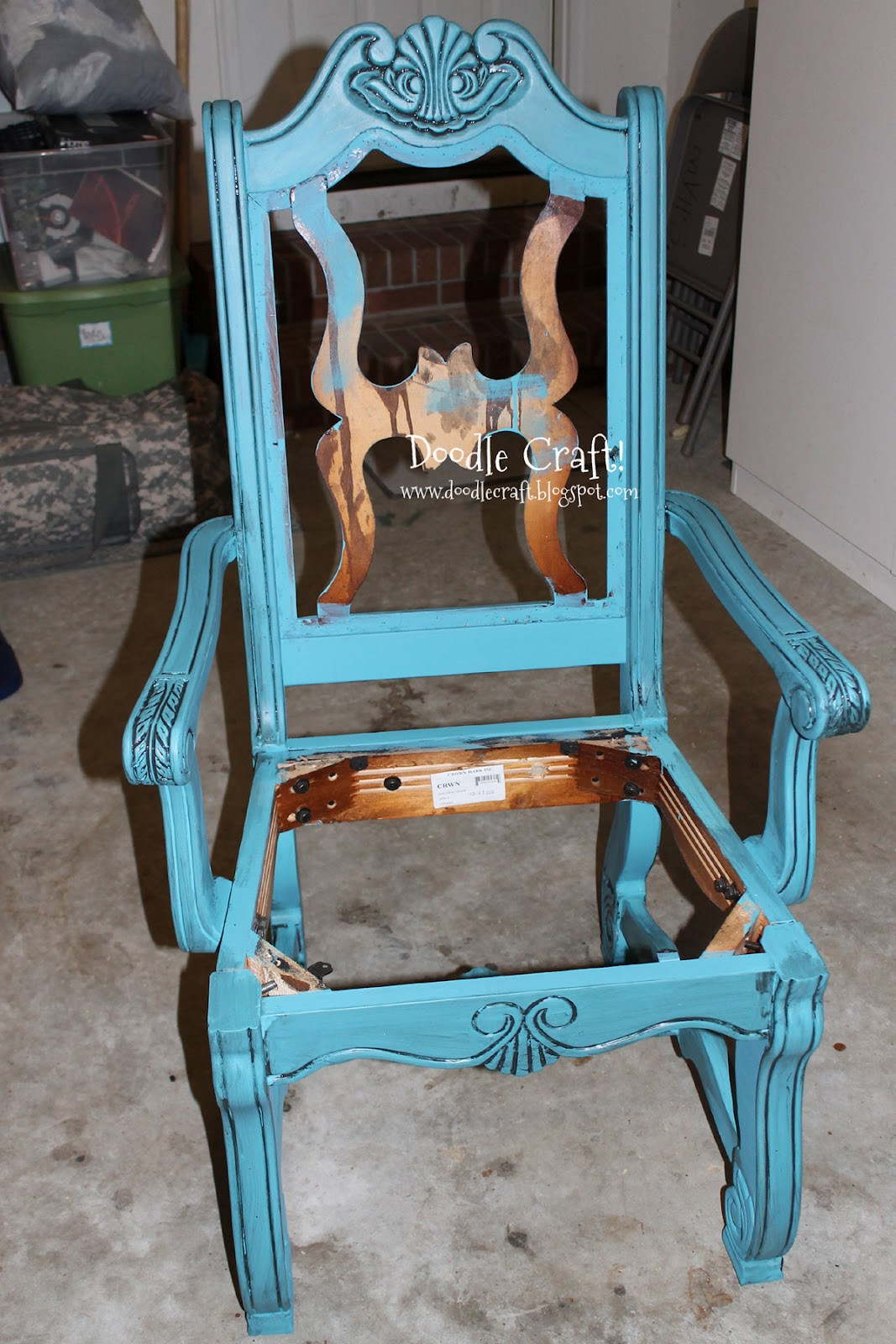 How To Make A Queen Throne Chair Peg Perego High Rocker Doodlecraft Vintage Style Redo For Free