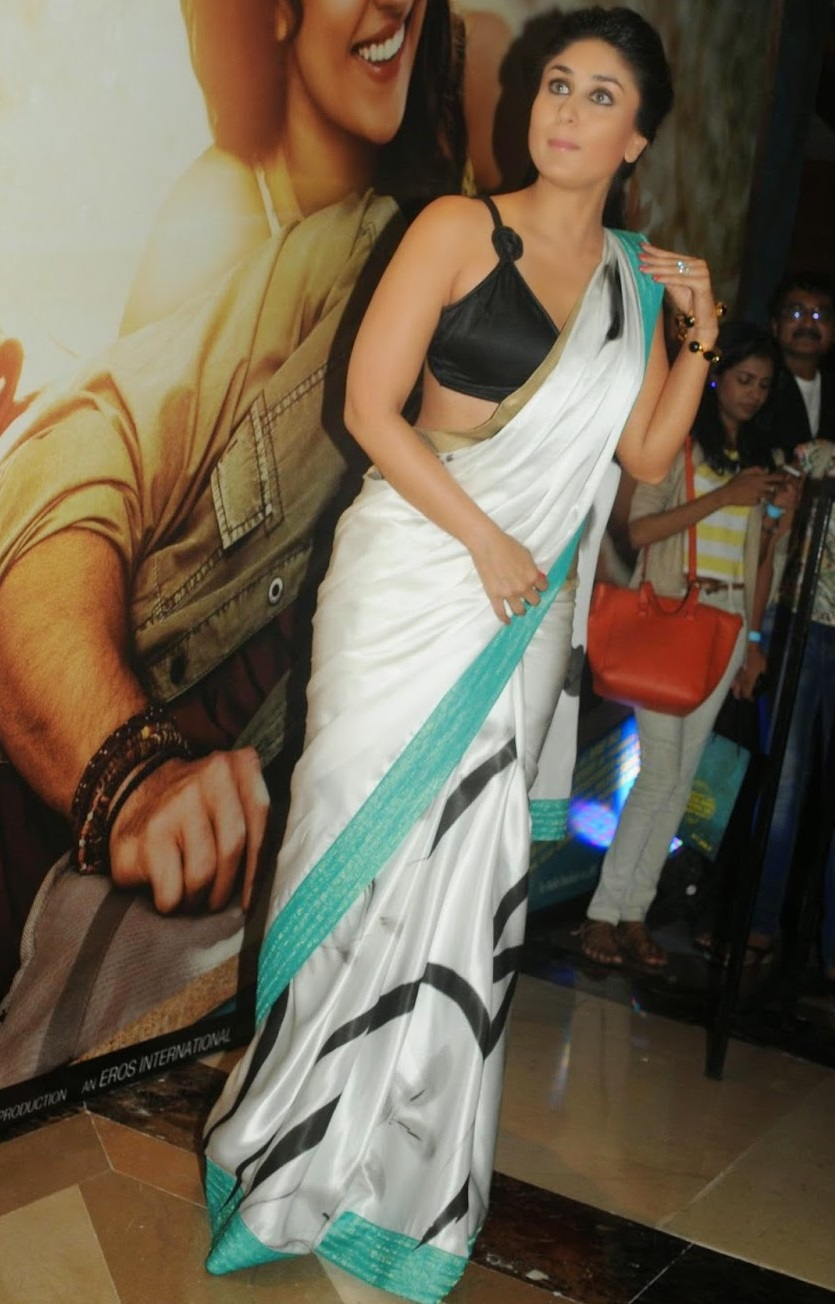 Kareena Kapoor Hot Spicy Photos In White Saree