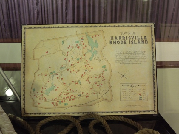 Harrisville Rhode Island map prop The Conjuring