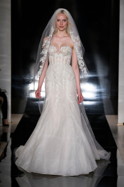 A look from the Reem Acra spring '17 bridal collection. Photo: Reem Acra