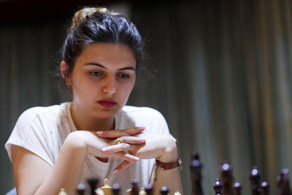 La Géorgienne Bela Khotenashvili (2493) joue sur ses terres à Batoumi - Photo © Anastasia Karlovich