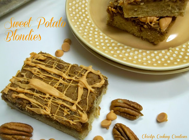 Sweet Potato topped Blondies