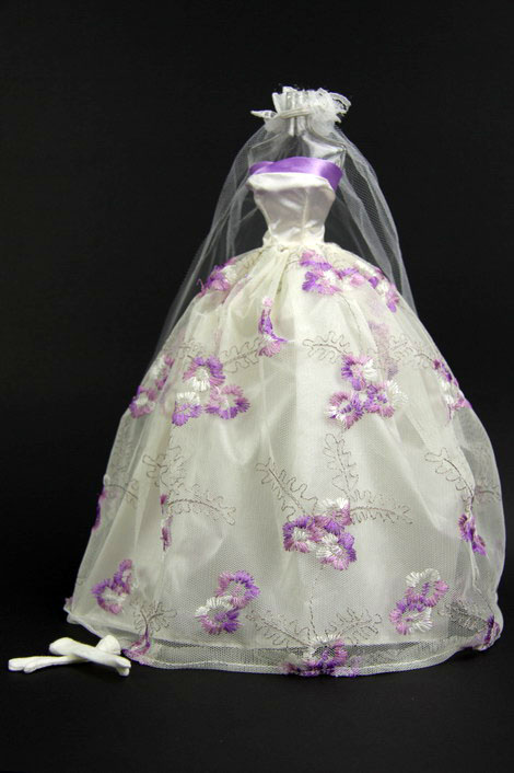 Wedding By Designs Purple and White Wedding Dress