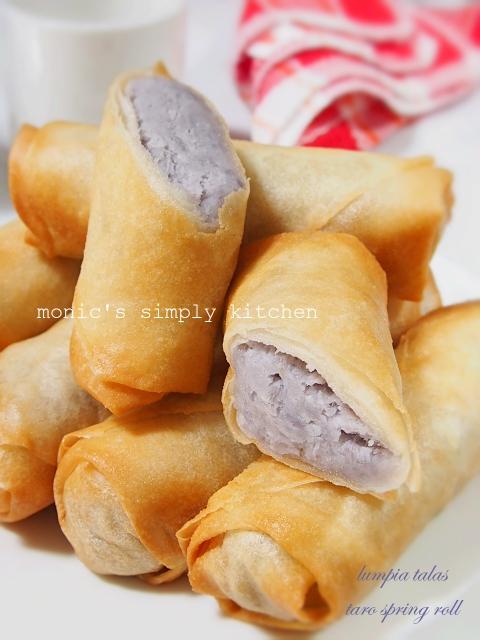 resep taro spring roll