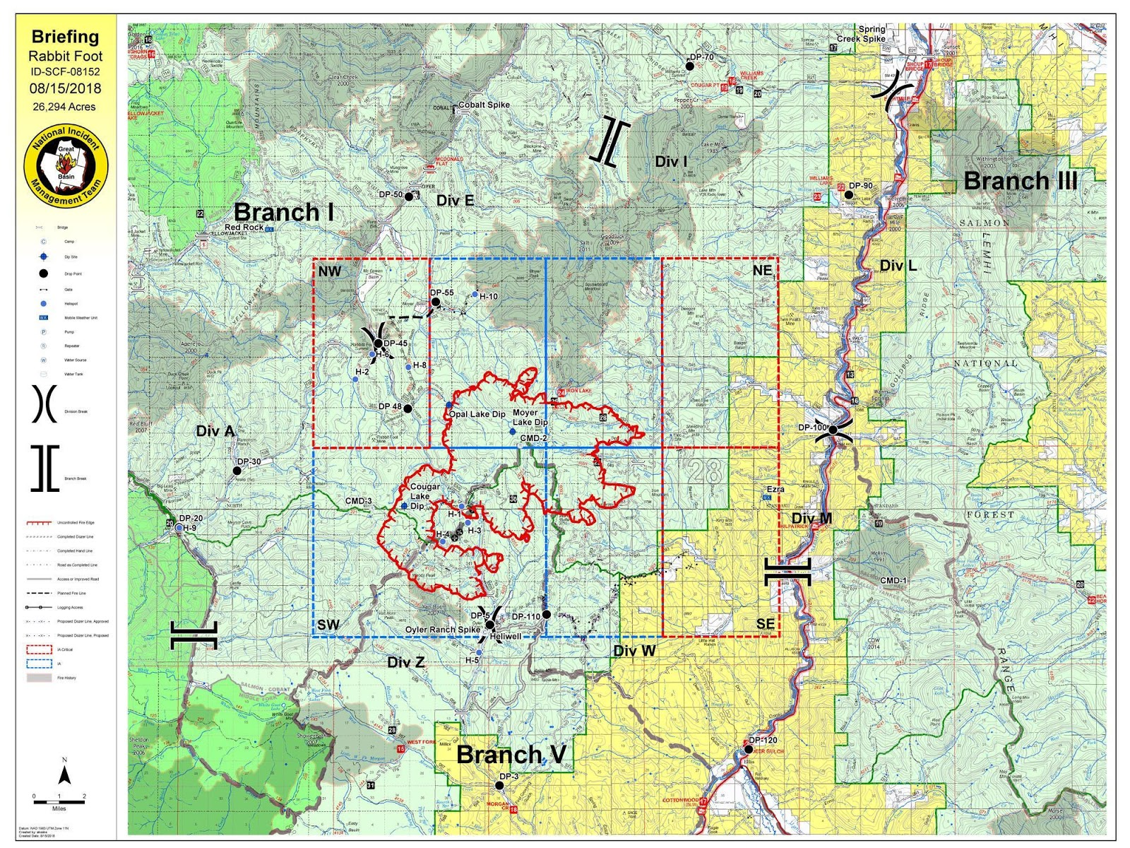 Idaho Fire Information Rabbit Foot Fire Update August 15th Pm