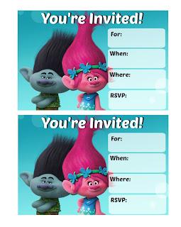 Free trolls party printables