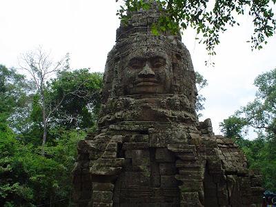 Escultura em pedra - Angkor Wat - Camboja