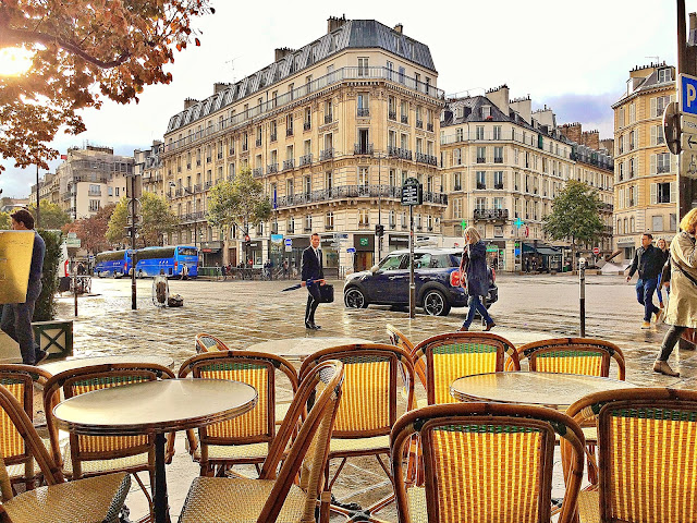 Dine outside at a French Bistro