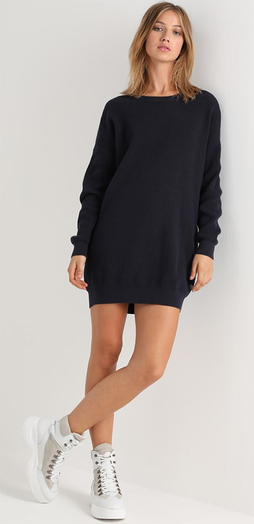 Robe pull bleu marine G-STAR RAW