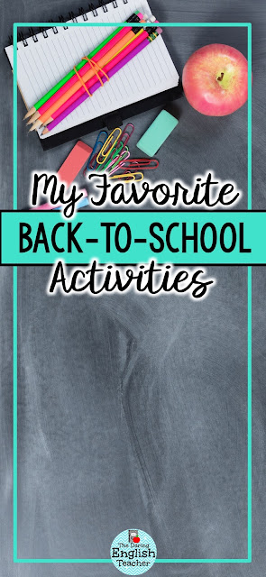 My Favorite Back-to-School Activities for Secondary ELA