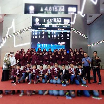 SMK TQ Al Hikmah Prodi Perbankan Syariah dalam kunjungan studi ke Bursa Efek Indonesia, 2016