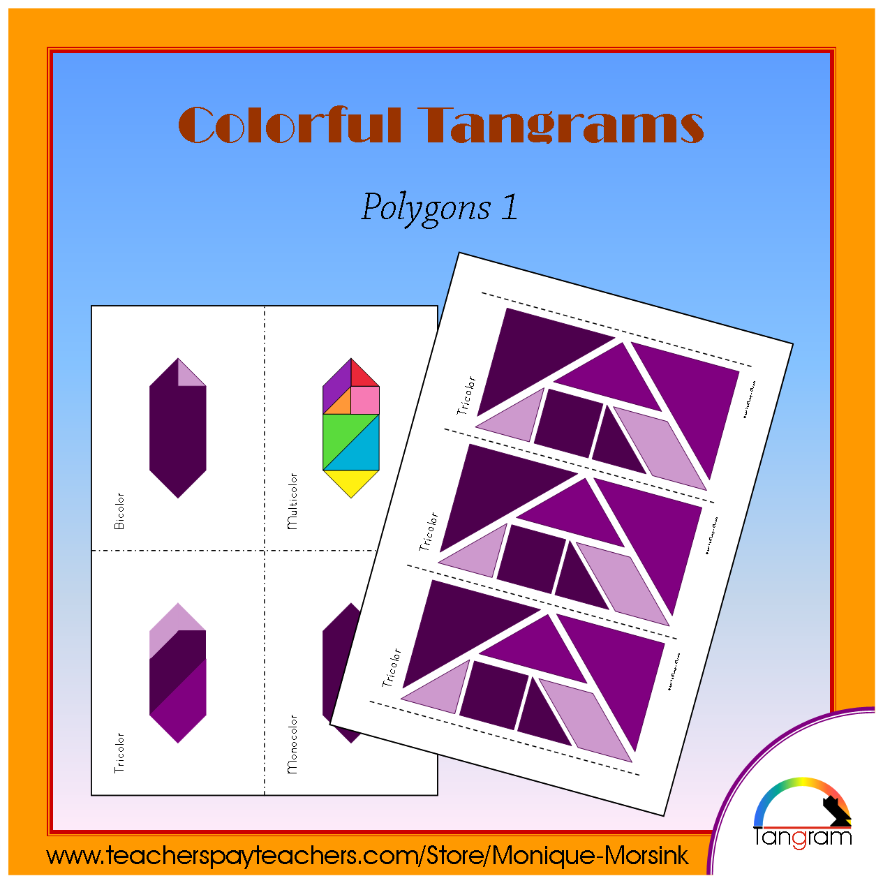 Colorful Tangrams Christmas
