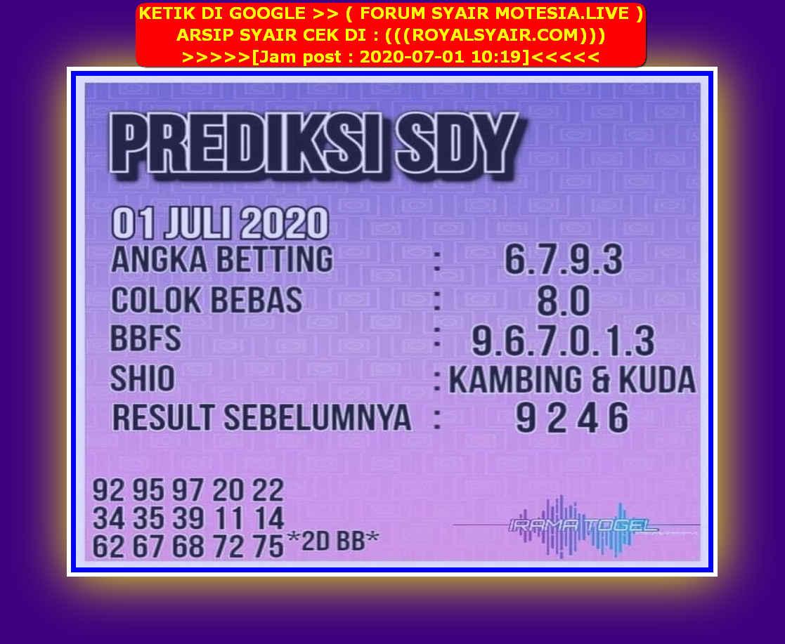 Kode syair Sydney Rabu 1 Juli 2020 227