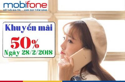 Mobifone khuyến mãi ngày 28/2/2018
