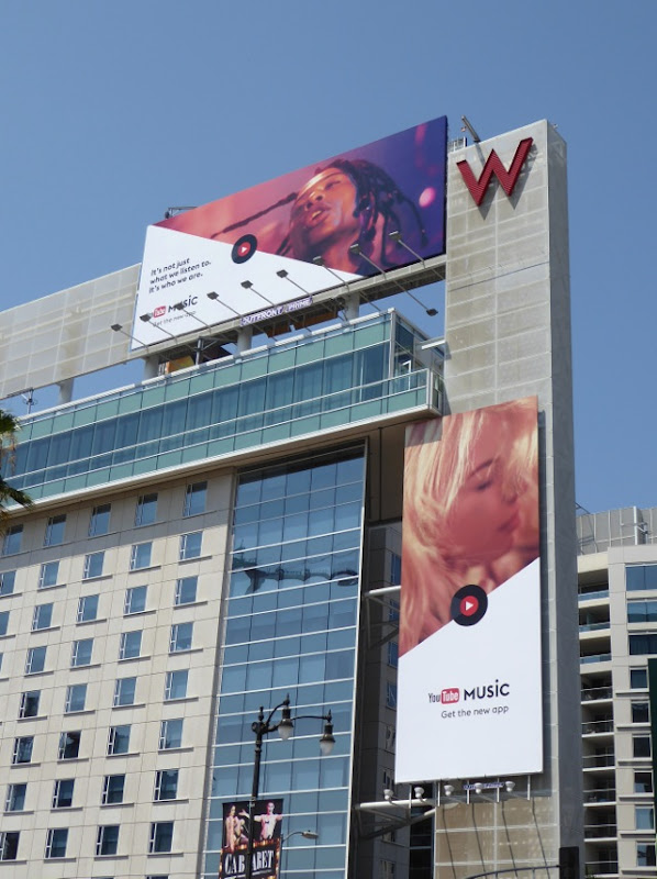 YouTube Music app billboards Hollywood