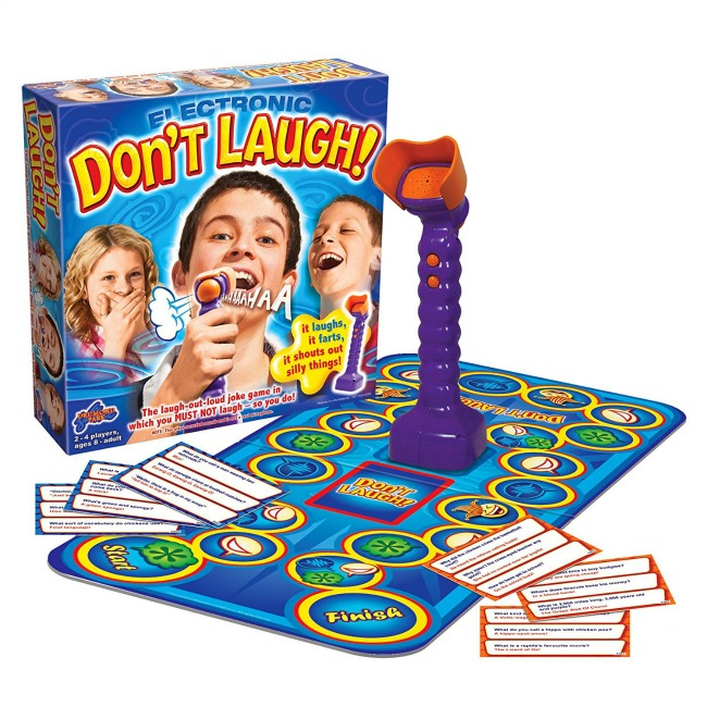 Don't laugh, fun family game. Unique Christmas Gifts Under £30 for men, women, teenagers, tweens, boys, girls, kids.