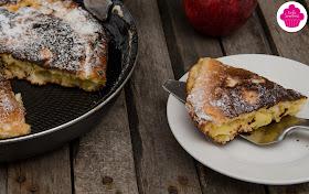 Gateau aux pommes, pépites de chocolat et amandes cuit à la poele - Bataille Food #50
