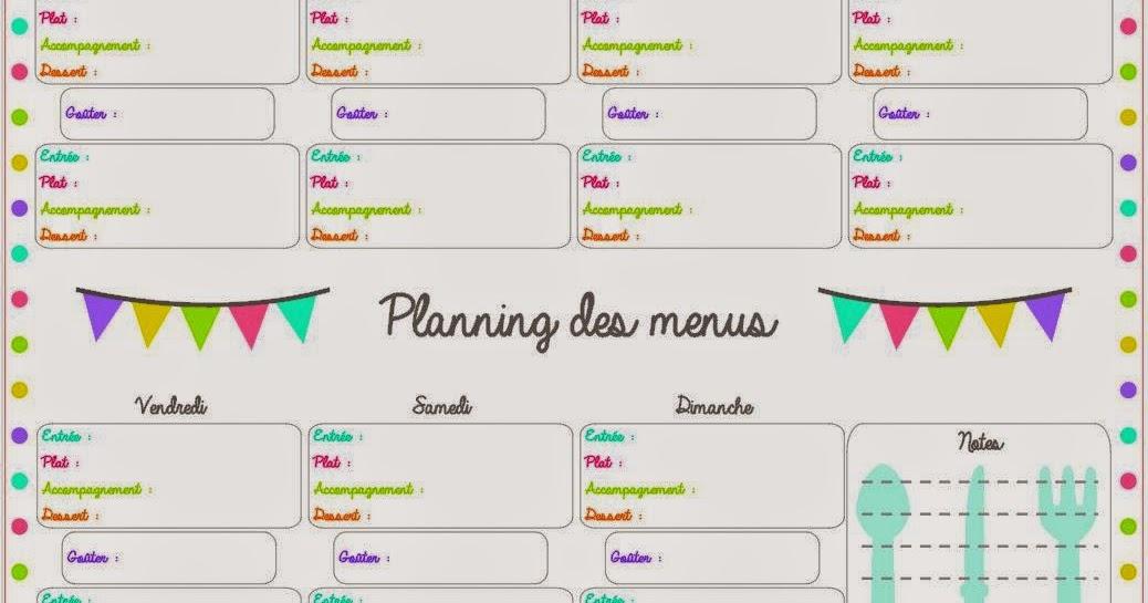 Trucs De Maeliane Le Blog Outil Pratique Planifier Ses Repas En Famille Et Sans Debat Imprimable