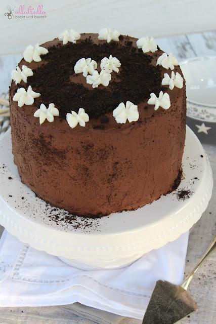 Rezept für Schokoladentorte mit Cheesecakefüllung