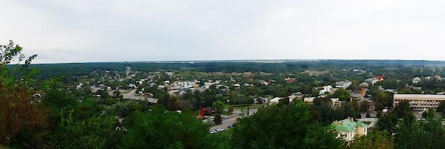 Panorama spod Chmielnickiego - okolice Czehrynia