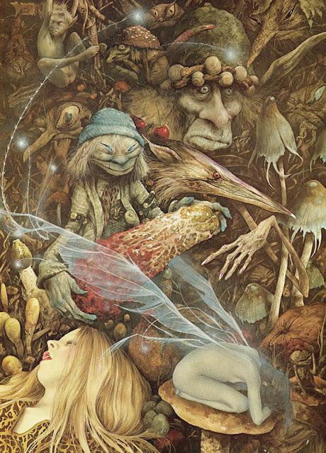 Ξωτικά και νεράιδες, εικονογράφηση του Brian Froud / Faeries and piskies by Brian Froud
