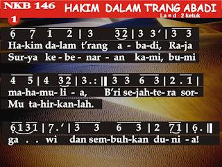 Lirik dan Not NKB 146 Hakim Dalam T'rang Abadi