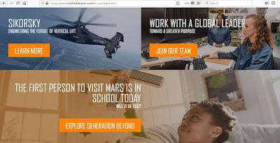 Seksyen pendidikan dalam laman web Lockheed Martin