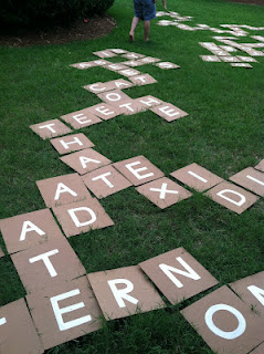 Lawn Scrabble from Constantly Love Struck