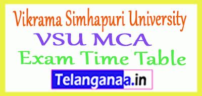 Vikrama Simhapuri University VSU MCA Exam Time Table