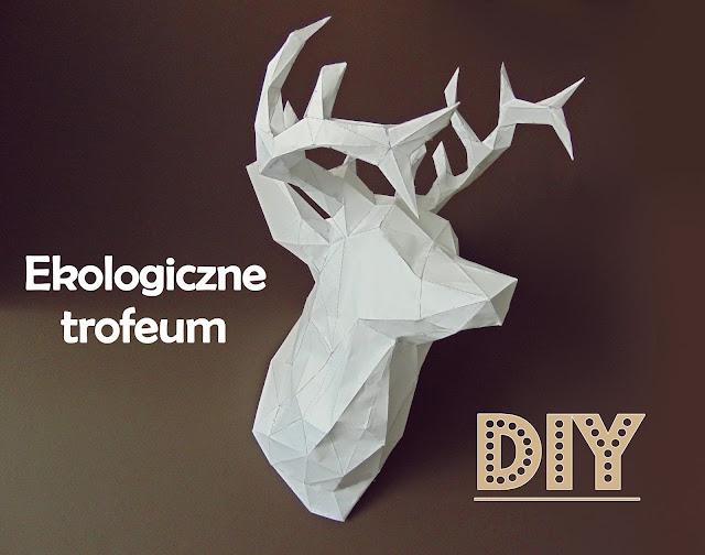 poroże jelenia z papieru 3D