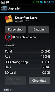 Cara mematikan notifikasi android kitkat