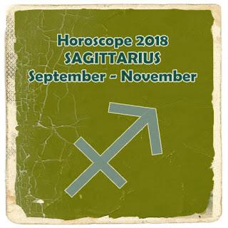 Horoscope 2018 SAGITTARIUS September to November
